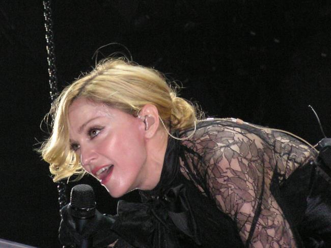 Madonna in un concerto del 2006