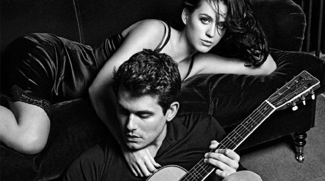 Katy Perry e John Mayer in una foto in bianco e nero quando stavano ancora insieme