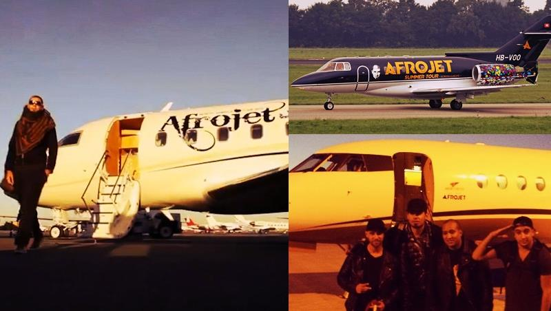 Afrojet accomuna ben 3 aerei privati probabilmente posseduti da Afrojack