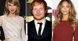 Taylor Swift, Ed Sheeran e Beyoncé