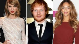 Taylor Swift, Ed Sheeran e Beyoncé