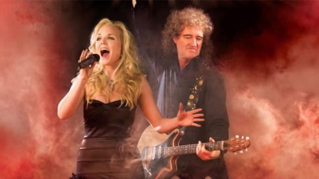 Brian May e Kerry Ellis sul palco