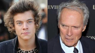 Primo piano di Harry Styles e Clint Eastwood