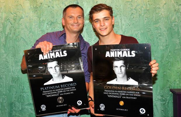 Eelko van Kooten e Martin Garrix alla premiazione di Animals