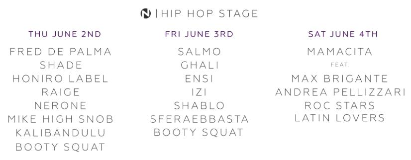 Nameless Music Festival 2016 - Hip Hop Stage Line Up