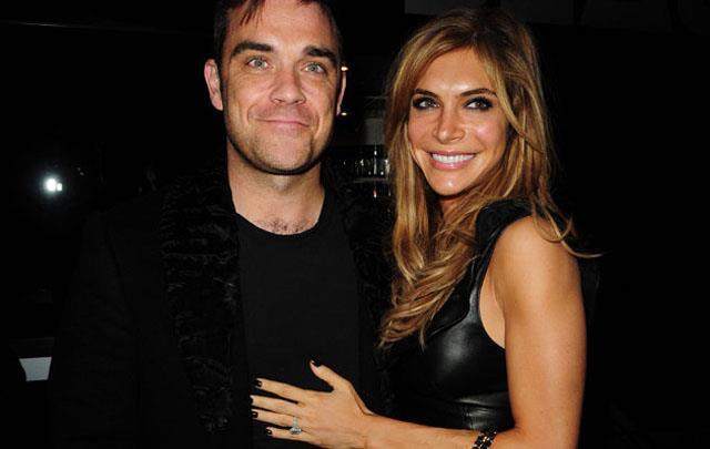 Robbie Williams con la moglie Ayda Field