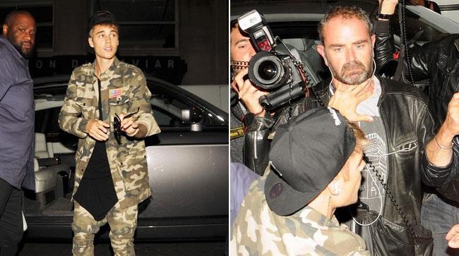 Justin Bieber affronta i paparazzi a Parigi