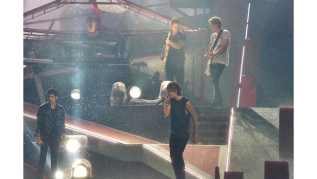 Il palco del concerto di Torino dei One Direction