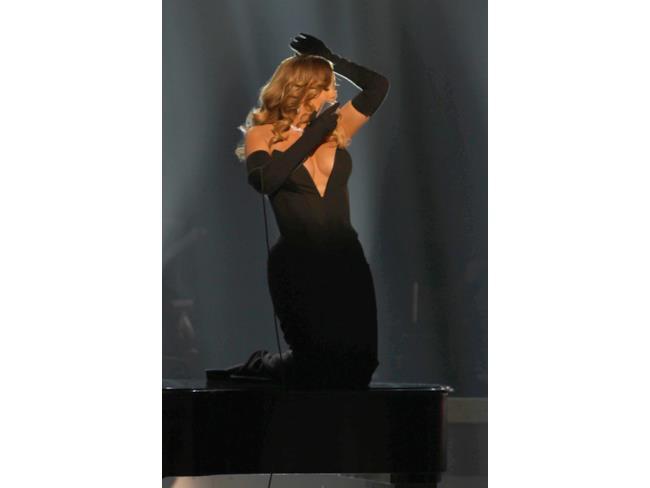 Mariah Carey durante un acuto