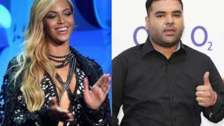 Beyoncé e Naughty Boy una di fianco all'altro