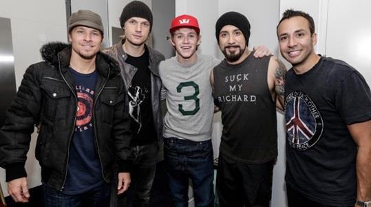 Niall Horan con i Backstreet Boys
