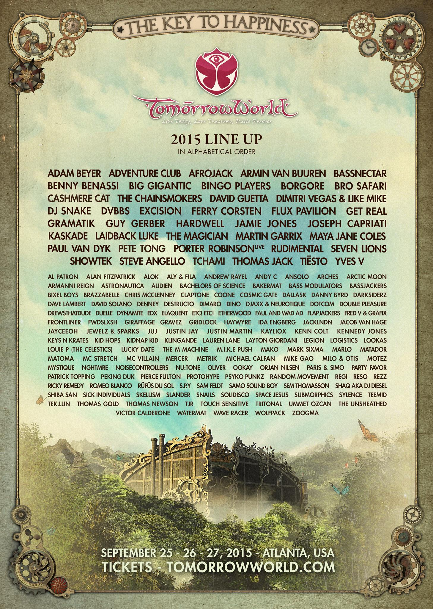 Tomorrowworld lineup