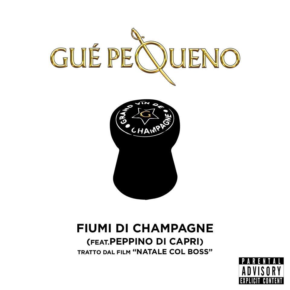 Fiumi di champagne è la canzone di Guè Pequeno nel film Natale col boss