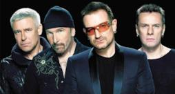 I quattro componenti degli U2