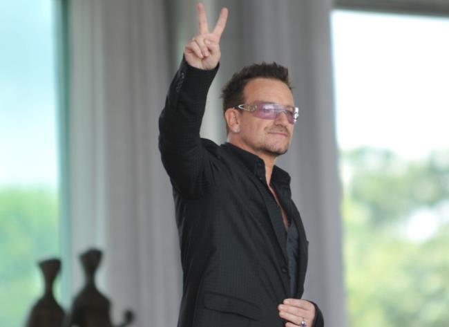 Il leader degli U2 Bono Vox