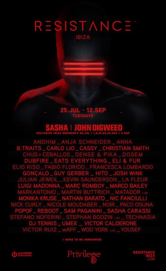 Resistance Ibiza: lineup