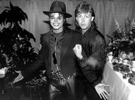 Paul McCartney e Michael Jackson