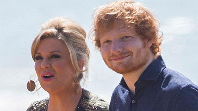 Ed Sheeran e l'attrice Emily Symons