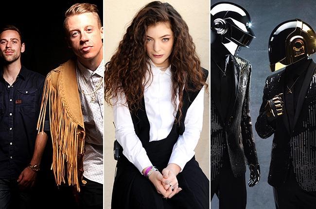 Macklemore & Ryan Lewis, Lorde e Daft Punk