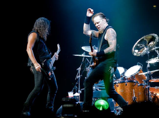 I Metallica in concerto a Londra nel 2008