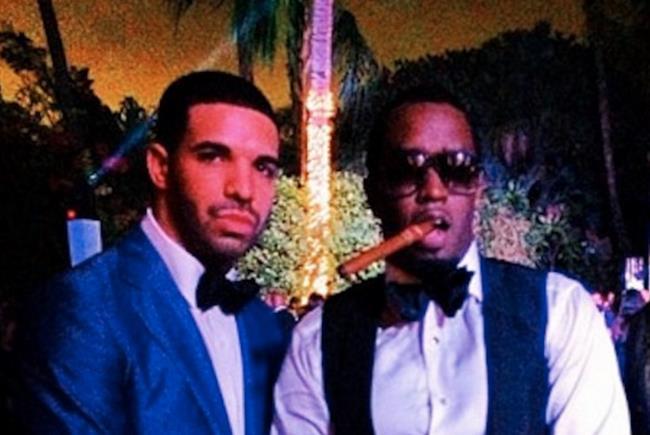 Drake e Diddy vestiti eleganti