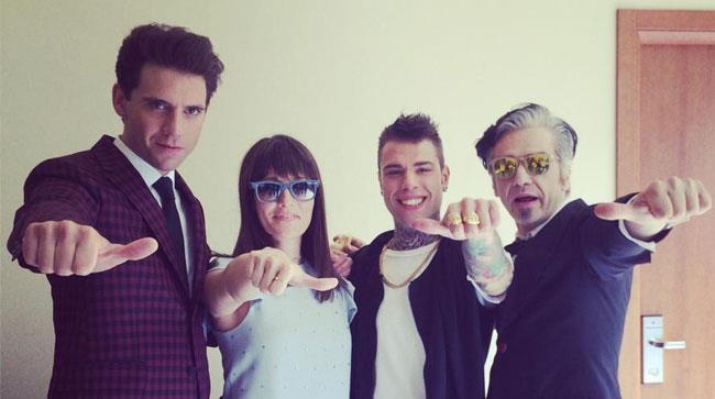 I giudici di X Factor Mika, Victoria Cabello, Fedez e Morgan