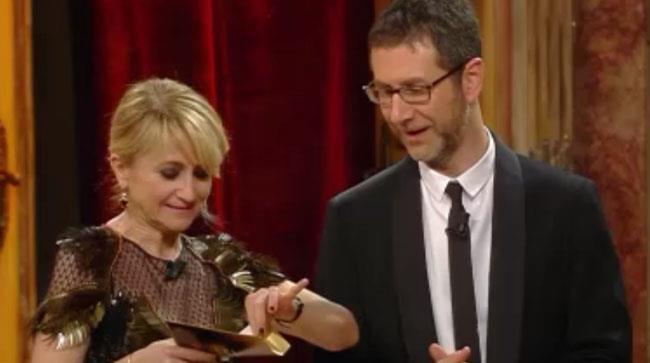 Fabio Fazio e Luciana Littizzetto annunciano il vincitore di Sanremo 2014