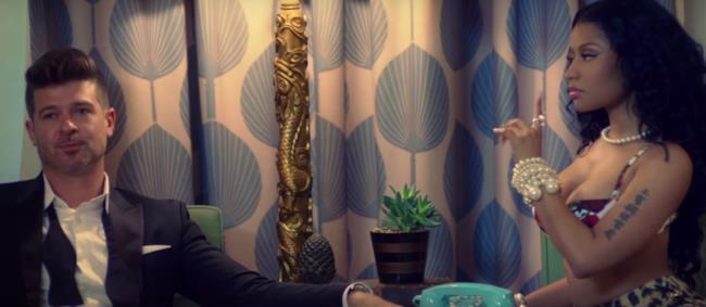 Robin Thicke e Nicki Minaj insieme nel video di Back Together