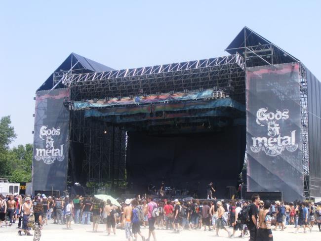 Il palco del Gods Of Metal, edizione 2008