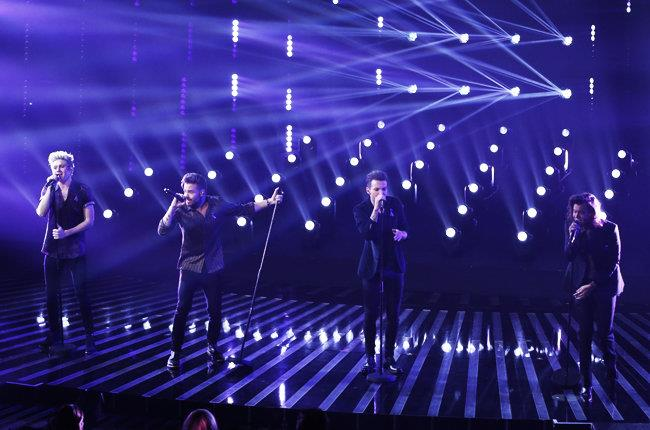 Gli One Direction a Londra sul palco di X Factor 2015
