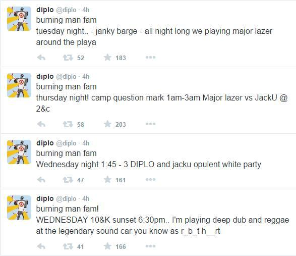 Diplo Burning Man Announcement