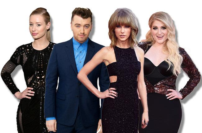 Iggy Azalea, Sam Smith, Taylor Swift, Meghan Trainor