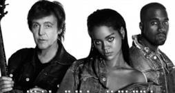 Rihanna, Kanye West e Paul McCartney insieme