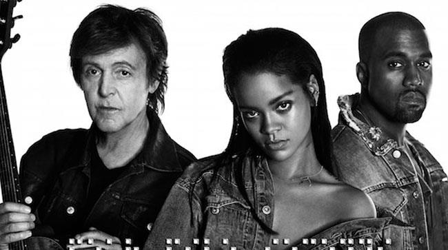 Rihanna, Kanye West e Paul McCartney insieme