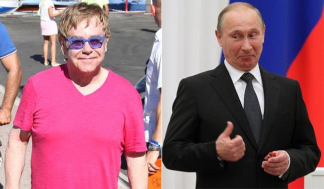 Elton John e Vladimir Putin