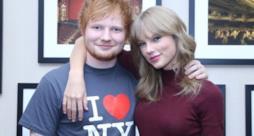 Ed Sheeran abbracciato a Taylor Swift