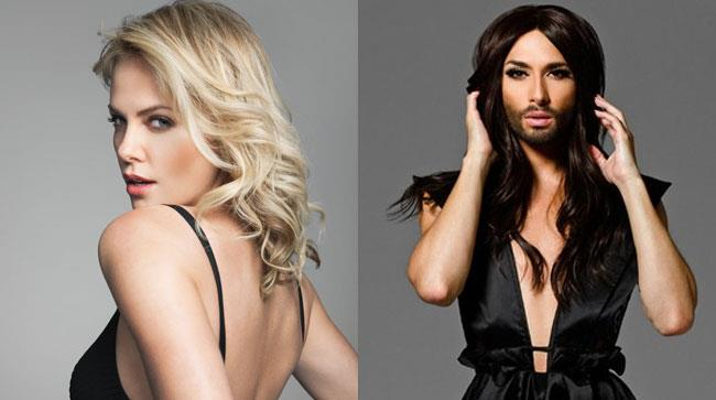 charlize theron e conchita wurst
