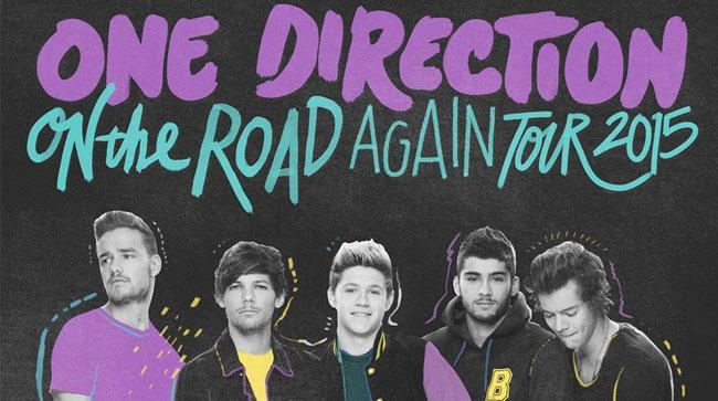 La locandina dell'On The Road Again Tour 2015