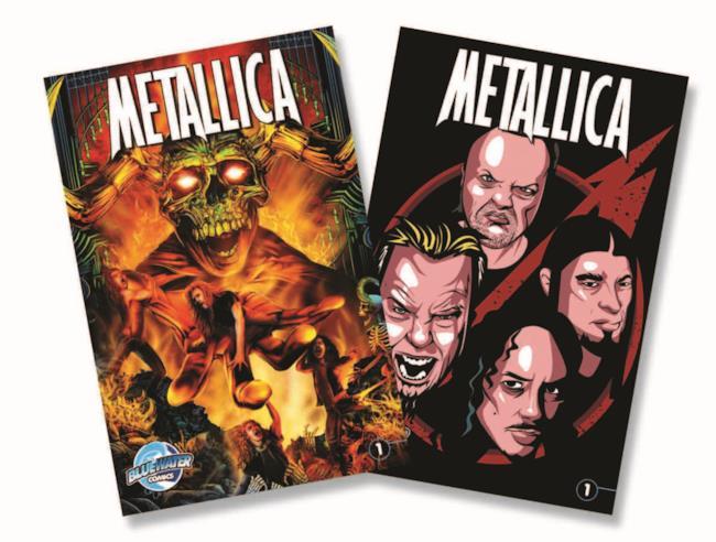 Copertine dei fumetti sui Metallica