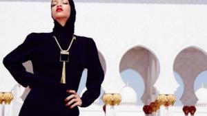 Rihanna moschea Abu Dhabi