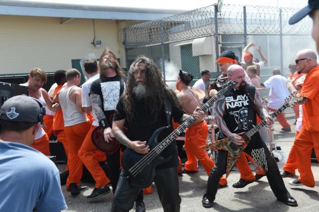 Gli Slayer durante le riprese di Repentless