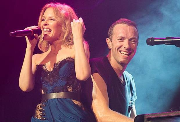 Kylie Minogue e Chris Martin insieme sul palco
