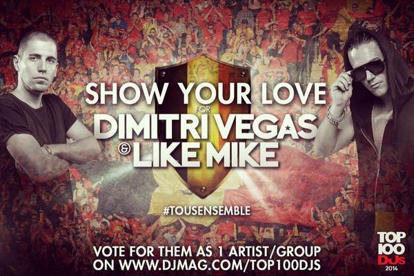 Dimitri Vegas & Like Mike DJMag Belgium