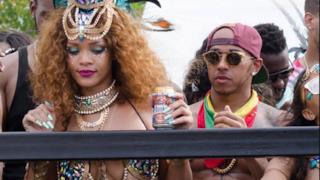 Rihanna e Lewis Hamilton