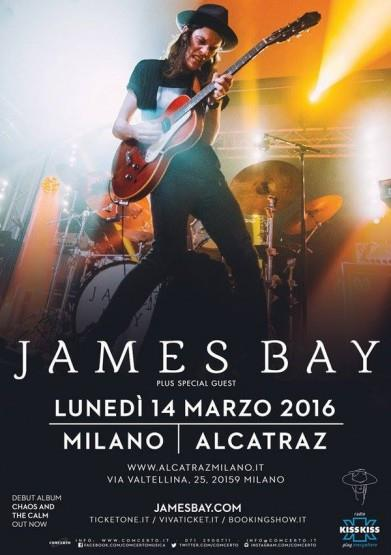 Il Chaos and the Calm Tour di James Bay in Italia nel 2016