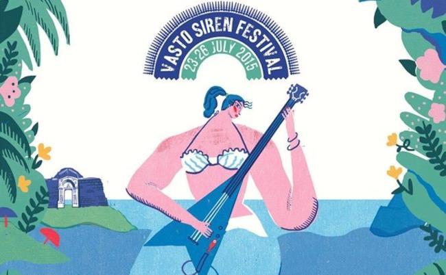 Locandina Vasto Siren Fest 2015 di Irene Rinaldi