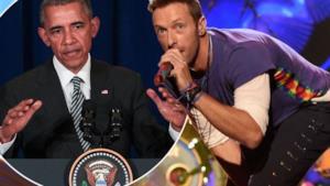 Barack Obama canta con i Coldplay