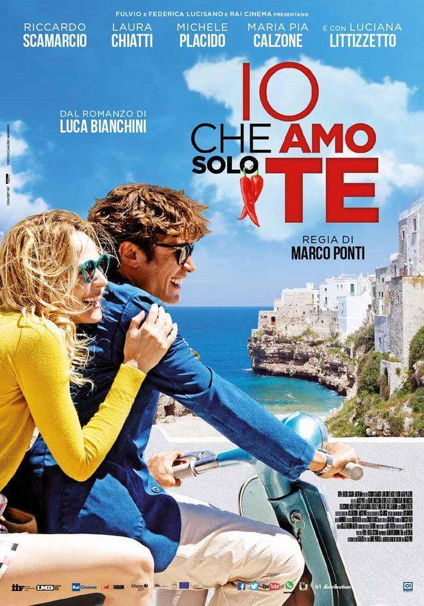 Riccardo Scamarcio e Laura Chiatti nel poster del film Io che amo solo te