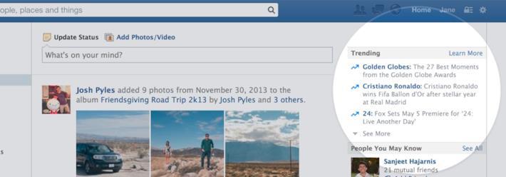 I trending topics di Facebook