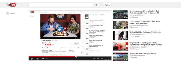 Pre-roll di Burger King contestualizzato al video di YouTube